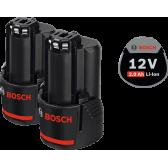 Аккумулятор Bosch Li-Ion 2 x 12 В 2,0 Ач.